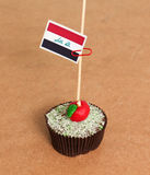 Iraq flag on a apple cupcake Royalty Free Stock Images