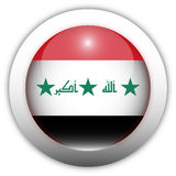 Iraq Flag Aqua Button Stock Photos