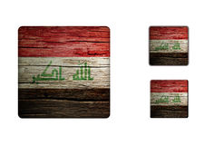 Iraq Flag Buttons Stock Image