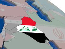 Iraq with flag Stock Photography
