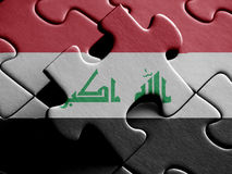 Iraq FLAG PAINTED ON PUZZLE nice Royalty Free Stock Images