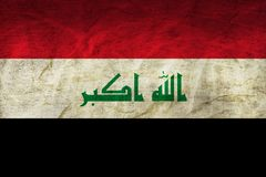 Iraq Flag on Paper. Flag on an old Paper Texture Royalty Free Stock Images