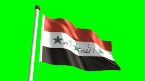 Iraq flag Royalty Free Stock Photos