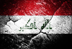 Iraq flag or war or conflict or worn or distressed Stock Photography