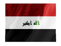 Iraq fluttering Royalty Free Stock Photography