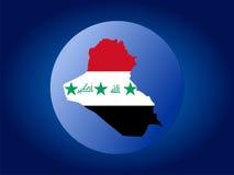 Iraq globe Stock Photo