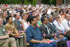 Iraq immigrant. Applauding with 76 new American citizens at Independence Day Naturalization Ceremony on July 4, 2005 at Thomas Jefferson's home, Monticello Stock Images