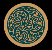 Iraq Interlaced Ornament. Traditional Iraq Interlaced Circle Ornament Royalty Free Stock Photography