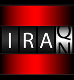Iraq Iran Ticker. Counter of Iraq/Iran indicating conflicts of each country with the US Stock Photos