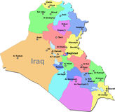 Iraq map Royalty Free Stock Images