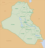 Iraq map. Map of iraq with area name Stock Photography