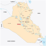 Iraq map Royalty Free Stock Photos