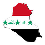 Iraq map flag Stock Image