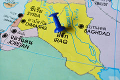 Iraq map Stock Photo