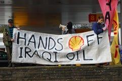 Iraq Oil Protest Stock Image