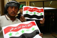 iraq protest Fotografering för Bildbyråer