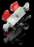 Iraq Puzzle Star Shadow. / Hight Quality Royalty Free Stock Photo