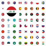 Iraq round flag icon. Round World Flags Vector illustration Icons Set. Iraq round flag icon. Round World Flags Vector illustration Icons Set Royalty Free Stock Photography