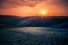 iraq solnedgång royaltyfri foto