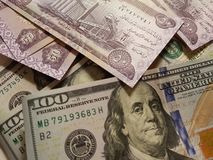 Iraq and the United States Join in the trade and economy, banknotes Use it as a Forex or Financial stock images