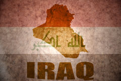 Iraq vintage map Stock Image