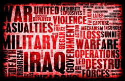 Iraq War. As a Grunge Abstract Background Royalty Free Stock Photography