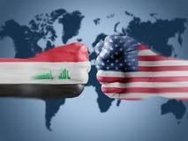 Iraq x USA Royalty Free Stock Photos