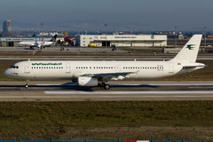 Iraqi Airways Airbus A321. Istanbul Atatürk Airport royalty free stock images