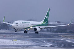 Iraqi Airways Boeing 737 landing Royalty Free Stock Images