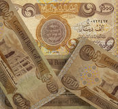 Iraqi banknotes. Background of thousands of Iraqi banknotes Stock Photography
