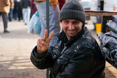 Iraqi Beggar Royalty Free Stock Photography