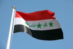 Iraqi flag Stock Images