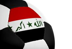 Iraqi Flag - Football Stock Photography