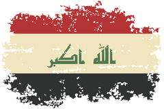 Iraqi grunge flag. Vector illustration. Royalty Free Stock Images