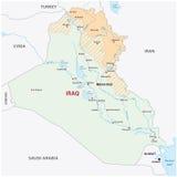 Iraqi kurdistan map Royalty Free Stock Photography