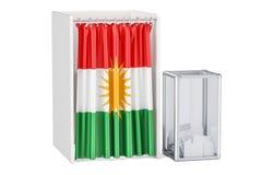 Iraqi Kurdistan referendum concept, 3D rendering Stock Images