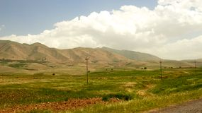 Iraqi mountains in autonomous Kurdistan region near Iran Royalty Free Stock Images