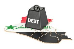 Iraqi national debt or budget deficit, financial crisis concept,. 3D Royalty Free Stock Image