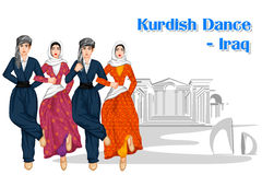 Iraqi People performing Kurdish dance of Iraq Stock Images