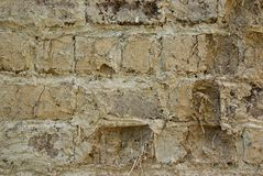Iraqi raw brick wall Royalty Free Stock Photos