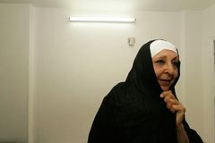 An Iraqi refugee woman at her home, Cairo. Stock Photography