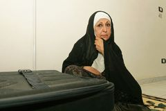 An Iraqi refugee woman at her home, Cairo. Stock Images