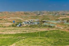 Iraqi township. Iraqi countryside in spring season between Kirkuk and Sulaimanya city Stock Images