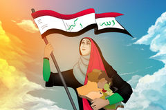Iraqi woman Stock Images