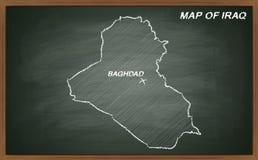 Iraque no quadro-negro Fotografia de Stock Royalty Free