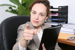 Irate Business Woman Royalty Free Stock Photo