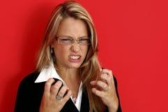 irated женщина Стоковая Фотография