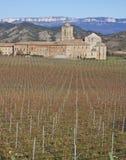 Iratxe Kloster und Weinberge, Camino De Santiago Stockfotografie