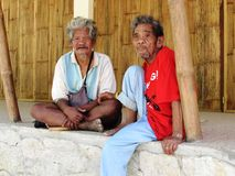 Iraya Tribal male elders Stock Images