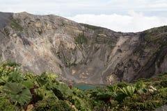 Irazú火山,哥斯达黎加 库存照片